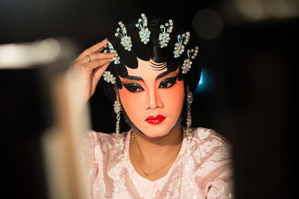Behind the Satin Curtains of a Chinese Opera