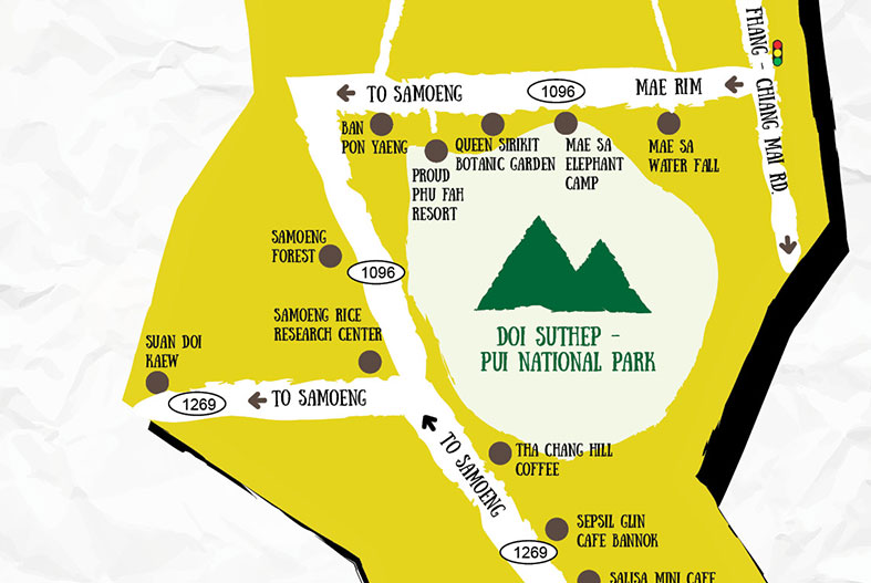 MAP & USEFUL TIPS To Trip Around Mae Rim and Samoeng